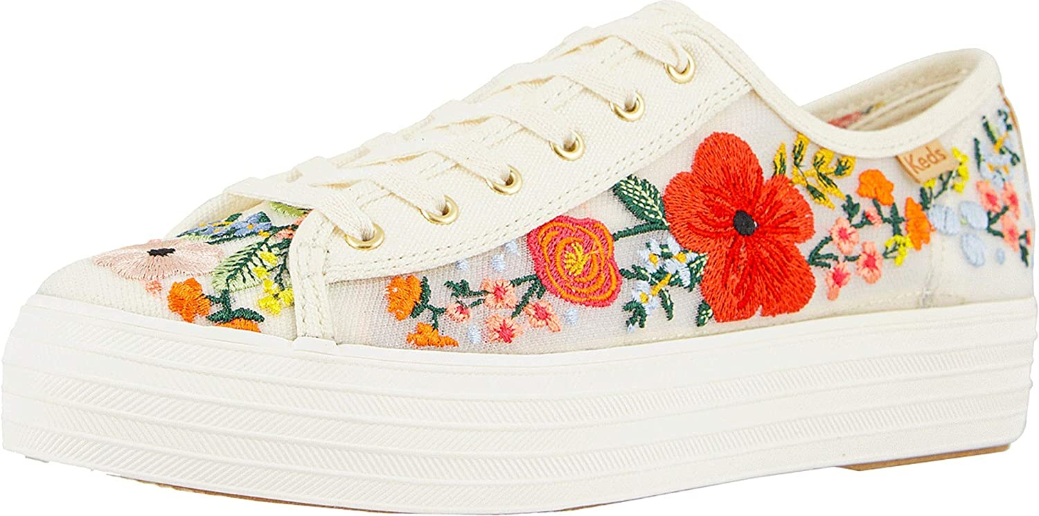 Triple Kick Embroidered Mesh Sneakers