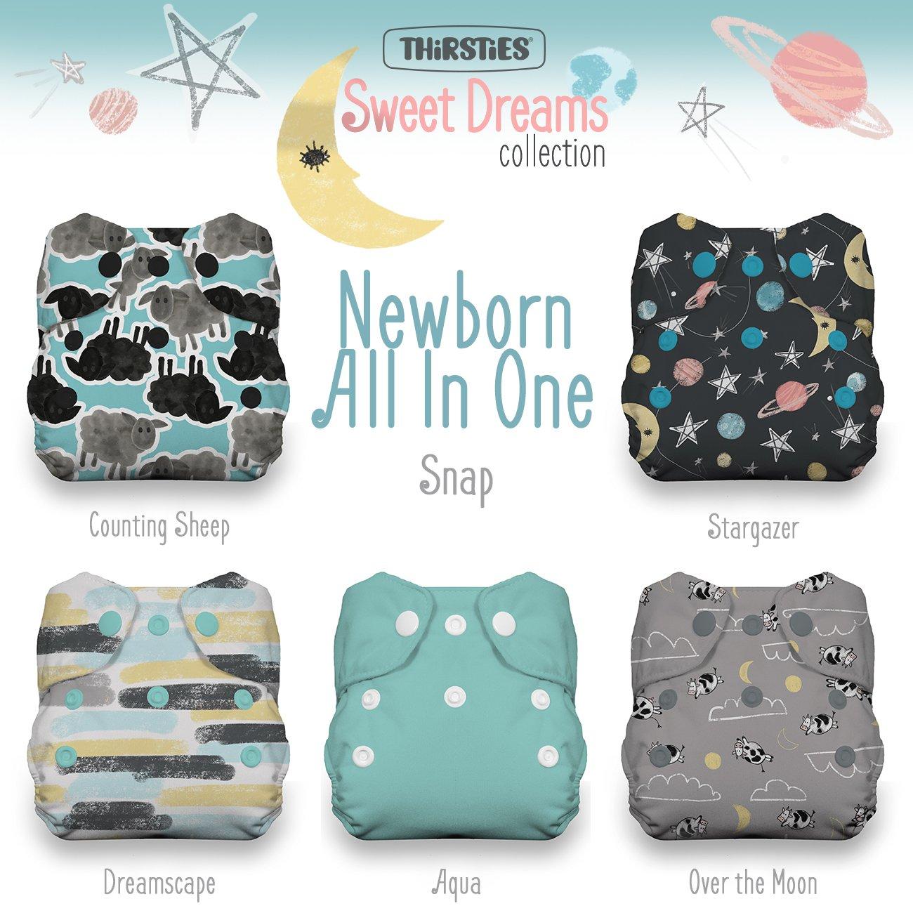 Thirsties Package, Snap Newborn All in One, Sweet Dreams by Thirsties (Image #1)