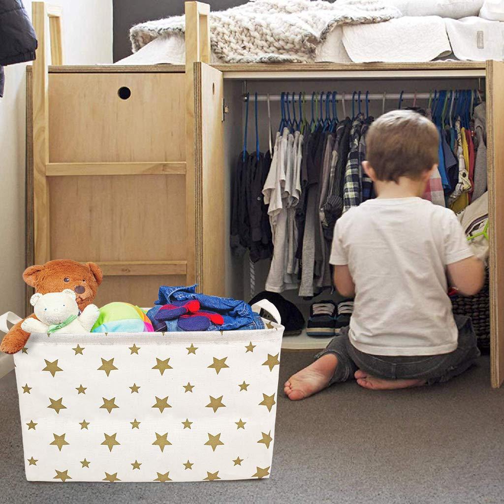 Kleidung Schuhe 2er-Set Baby Organizer Aufbewahrungsboxen f/ür Kinderzimmer Gro/ße Kapazit/ät Faltbar Aufbewahrung f/ür Spielzeug Faltbare Aufbewahrungsbox