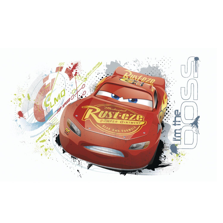 RoomMates Disney Pixar Cars 3 Lightning Mcqueen Peel And Stick Wall Graphic York Wallcoverings RMK3465GM