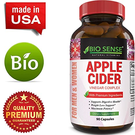 Apple Cider Vinegar Pills - For Weight Loss 1500 MG ACV Extra Strength Fat  Burner Natural Supplement