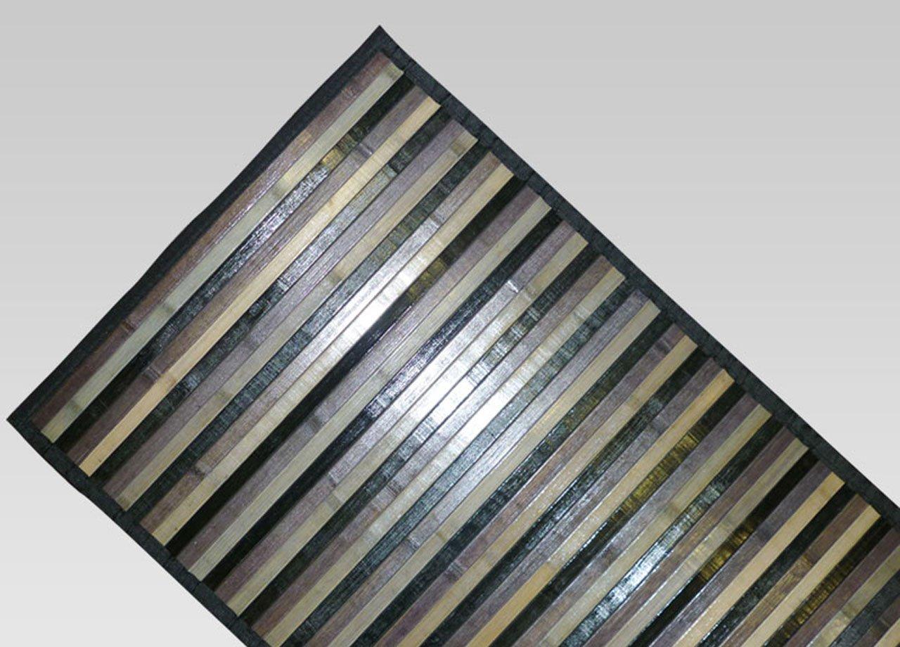 SOFFICIOSO Tappeto Bamboo Degradee Passatoia da Cucina Antiscivolo 50x75 cm Beige