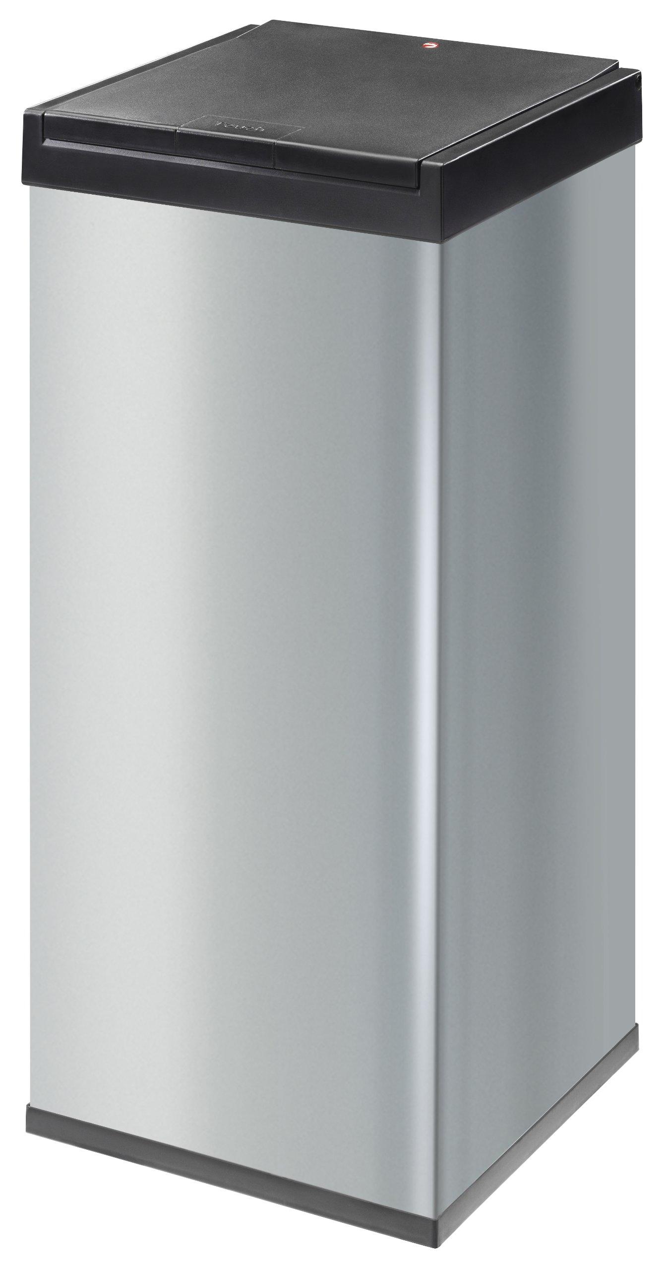 Hailo Big Box 80 Touch Waste Bins, Silver