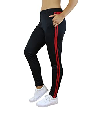fe6c1d3a67aa15 Galaxy by Harvic Ladies Soccer Athletic Training Sweat Track Pants at Amazon  Women's Clothing store: