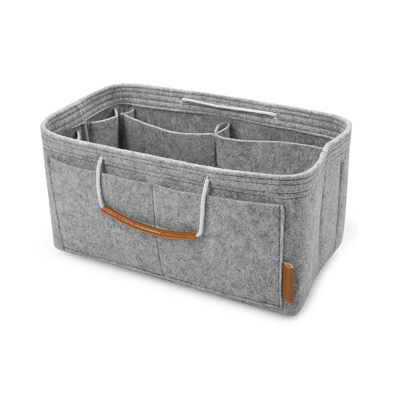 FOREGOER Purse Insert Handbag Organizer Bag in Bag Organizer with Handles - Small