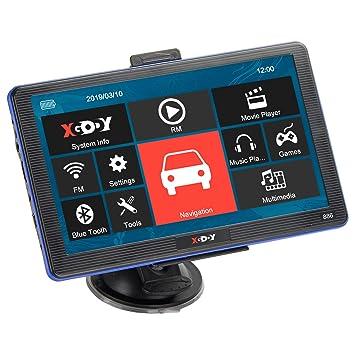 XGODY GPS 886,Navegador para Coche y Camión -Navegación de 7 Pulgadas-Llamadas Manos Libres-Actualizaciones Gratis de Mapas(EU) de por Vida-Pantalla ...