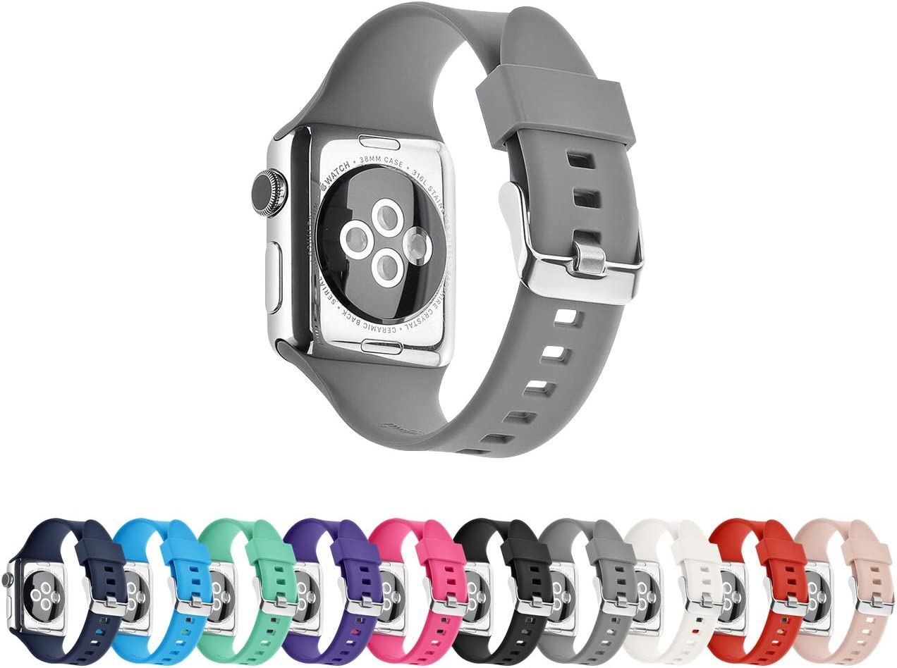 Pantheon Compatible Apple Watch Band 38mm 40mm Series SE 6 5 4 3 2 1 Silicone Sport Band Waterproof Compatible iWatch Bands for Men and Women