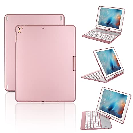 Funda para Teclado para iPad, STOGA 360 Dual Axi Ángulo de Estuche Protector visión ajustable con ...