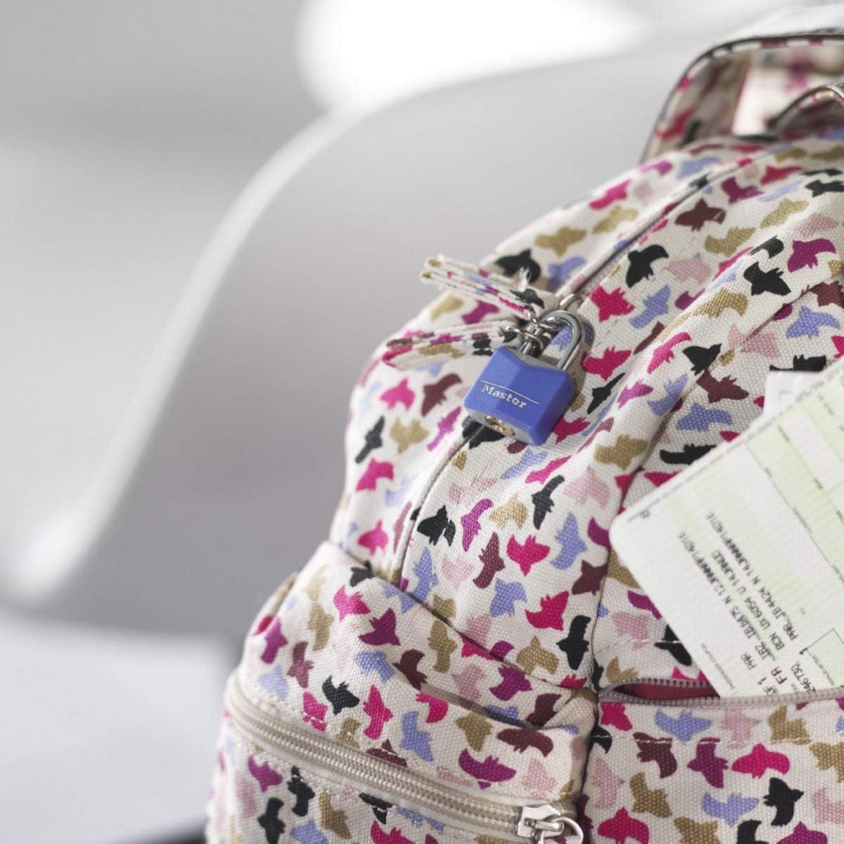 Schl/üssel Gleichschliessend Ideal f/ür Rucks/äcke 120EURQNOP Computertaschen und mehr 4er-Pack Familienpackung MASTER LOCK Kleine Vorh/ängeschlosser Set Gep/äck