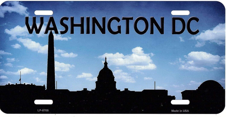 Inga Washington DC Skyline Plaque dimmatriculation en m/étal 6 x 12 Pouces