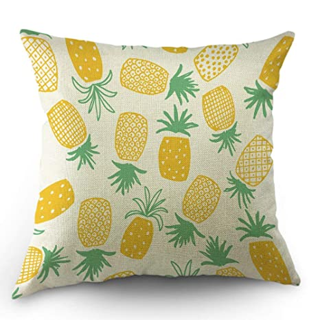 odin sky Funda de Almohada de piña Throw Tropical Summer ...