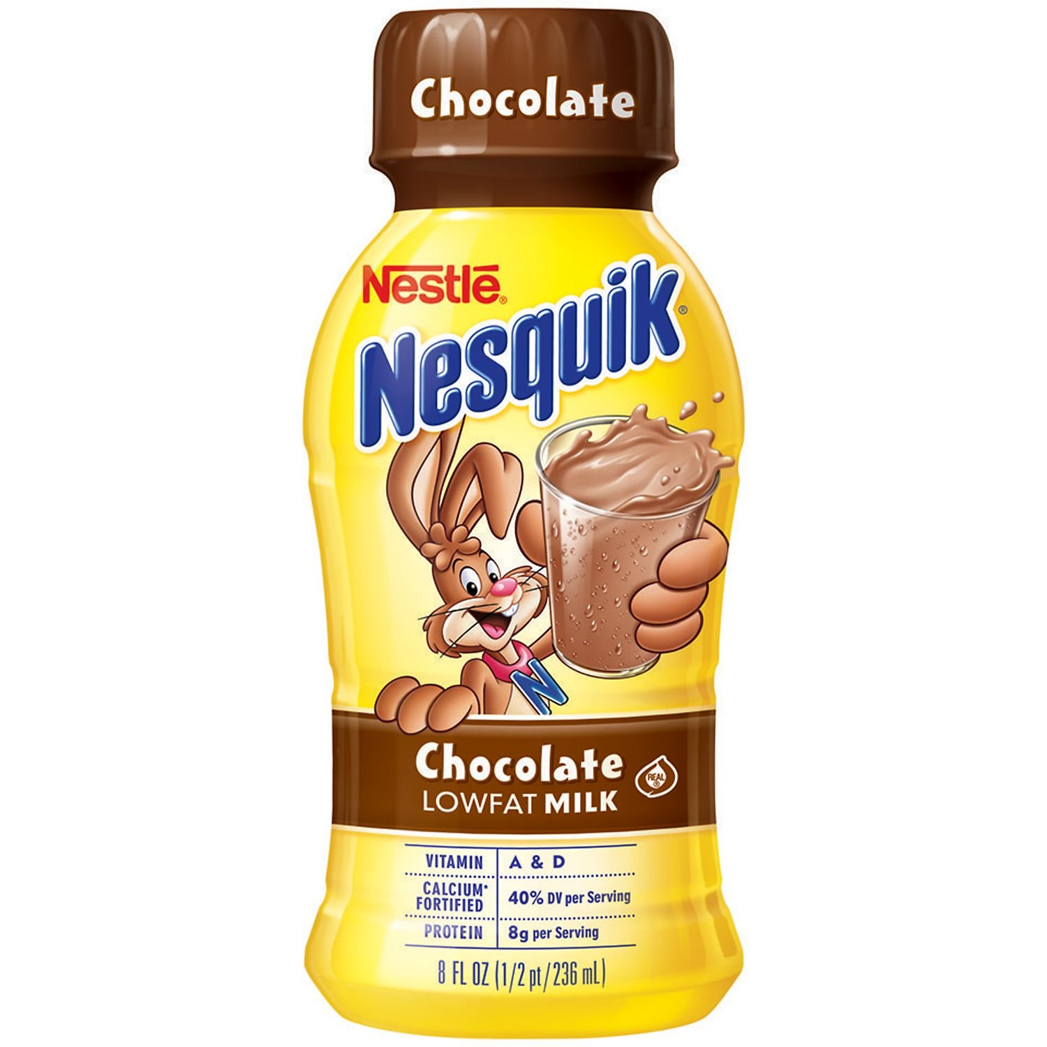 Nestle Nesquik Chocolate Lowfat Milk (8 oz. bottles, 15 pk.) (pack of 6)