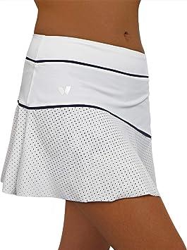 Falda para Padel o Tenis IDAWEN, de Cintura Alta con Short Interior ...
