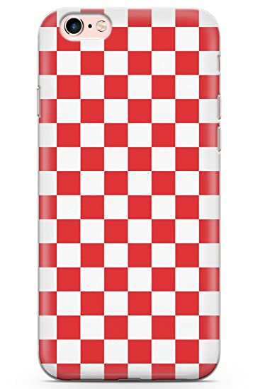 hot sale online 9f5f8 1d68f Case Warehouse iPhone 6 Plus Case, Red Checkered Phone Case Clear Ultra  Thin Lightweight Gel Silicon TPU Protective Cover | Checked Checkerboard  Plaid ...