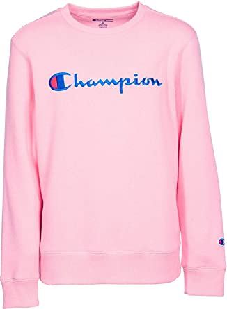 05cd36d8 Image Unavailable. Image not available for. Color: Champion Girls' Heritage  Script Crew Neck Pullover (S, ...