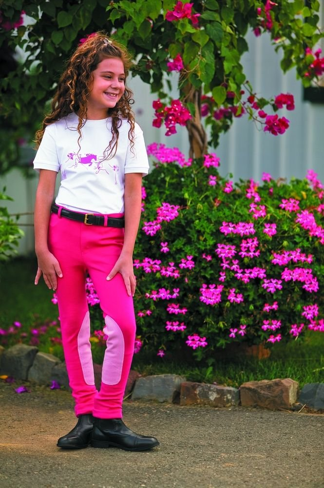 TUFFRIDER Children's Whimsical Horse Embroidered Pullon Jodhpurs Breech JPC Equestrian Inc