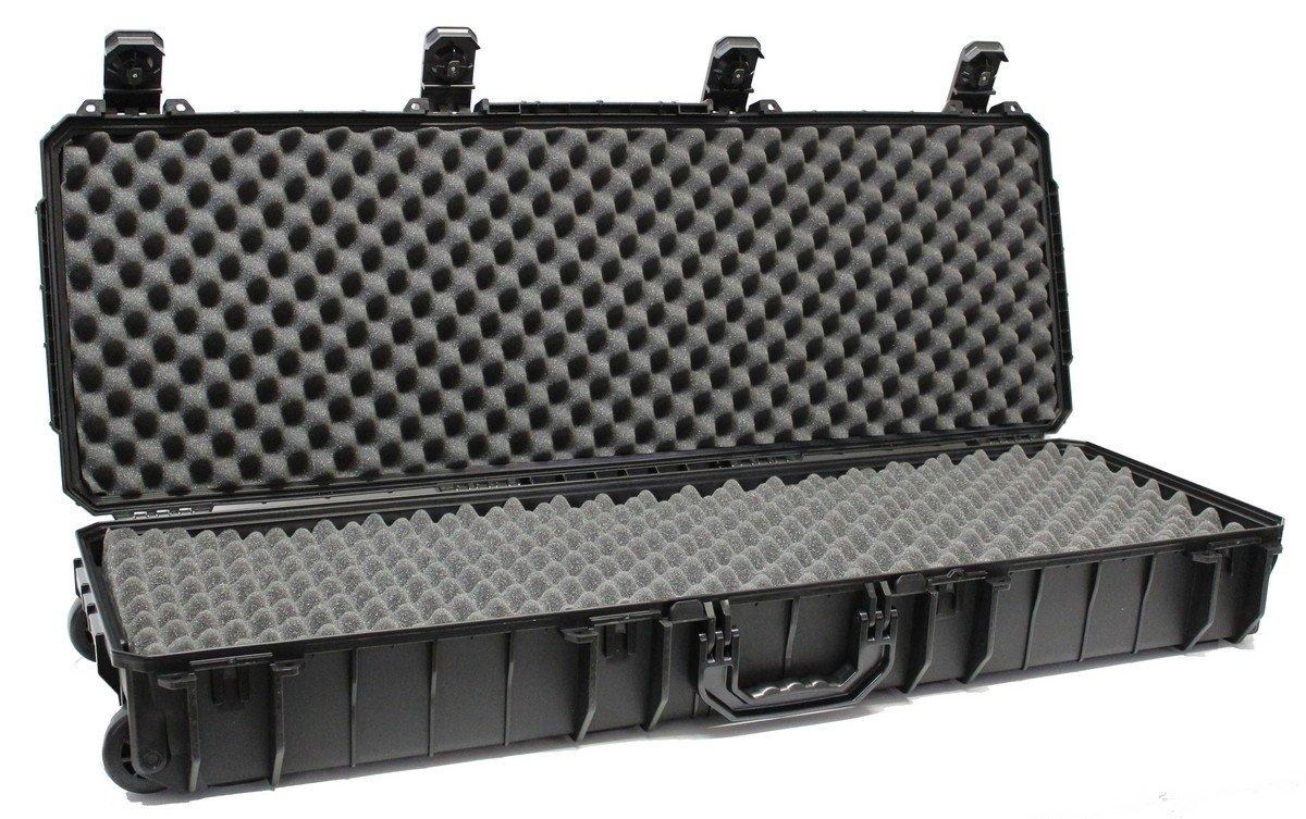 ロング防水ケース、Wheeled、ConvolutedエッグクレートFoam ( c.a.r.g.o. cg-441406 ) - (ブラック) B074XHQNNJ