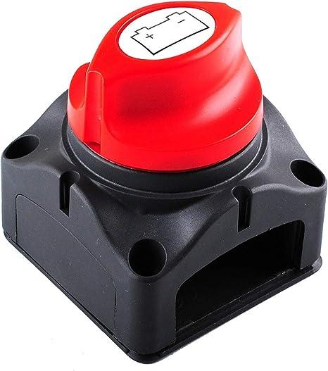 Wadoy 300 A Batterie Master D/éconnexion Rotatif Coupe//Arr/êt Interrupteur Isolateur pour Bateau Voiture V/éhicules