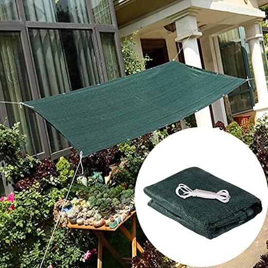 GZHENH-Malla Sombra De Red ,Anti-UV Bordes Engrosados Al Aire Libre Suculentas Protector Solar A Prueba De Polvo Respirable Polietileno, Versión Actualizada 2020 (Color : Green, Size : 2x3m): Amazon.es: Jardín
