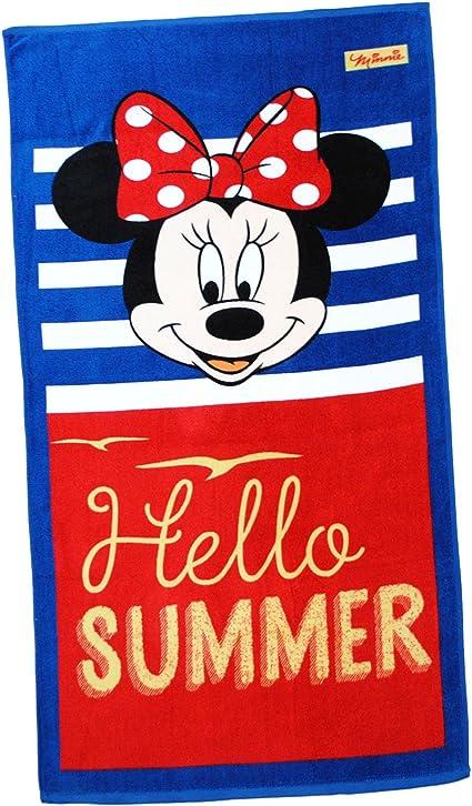 """Hello Summer /"""" 100 /% Baumwolle /"""" Disney Minnie Mouse Strandtuch // Badetuch"""