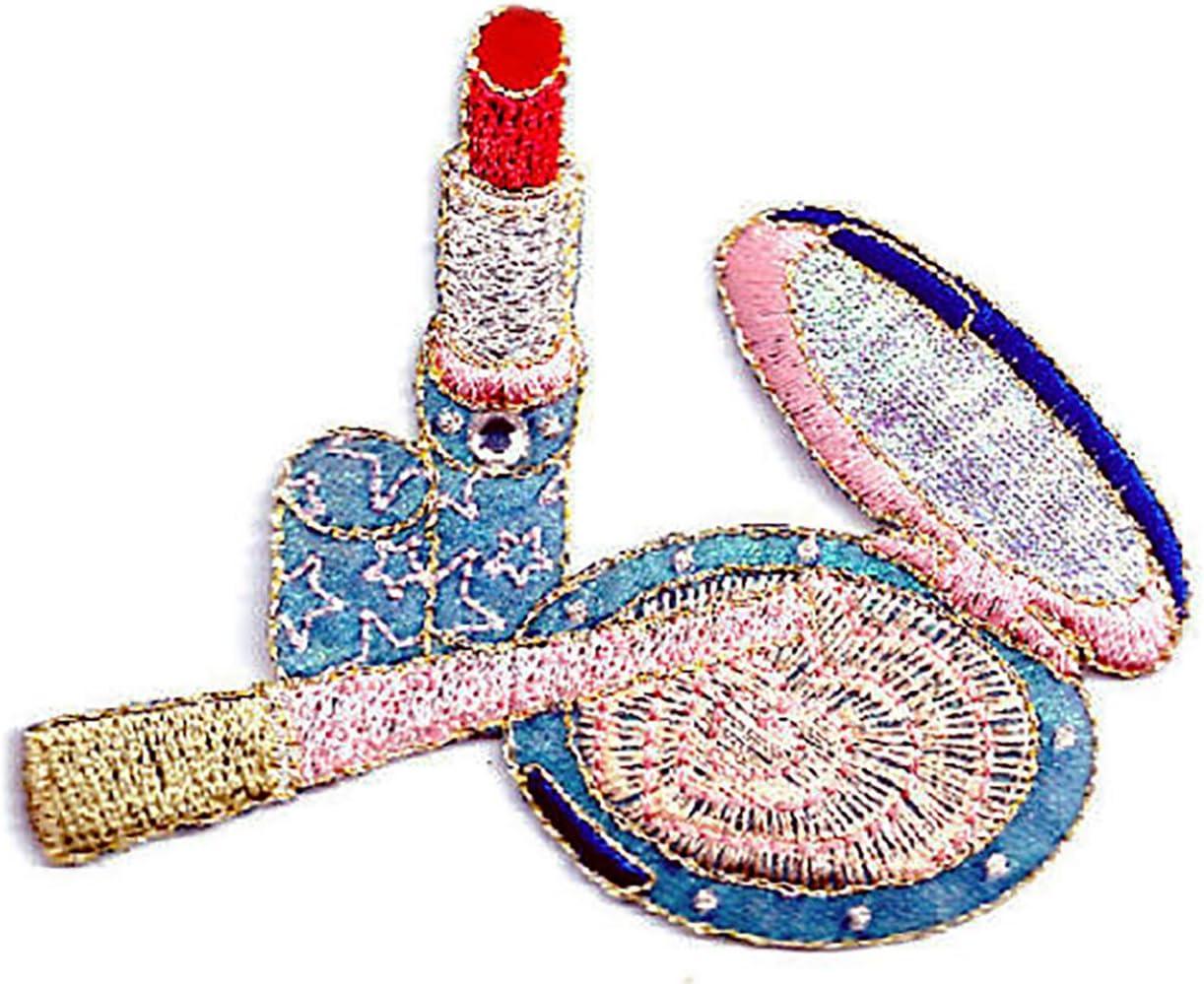 5 Powder Compact /& Lipstick Card Making Scrapbook Craft Embellishments Supplies