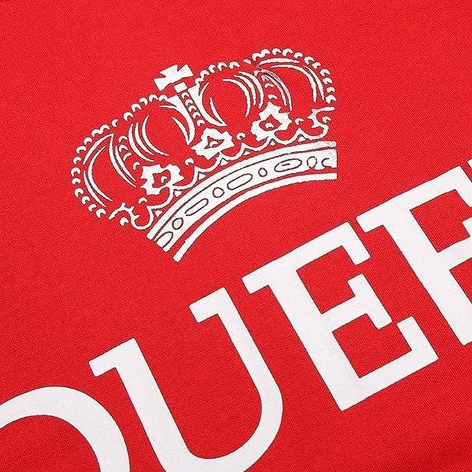 Unisex King Queen Hoodie Couple Casual Hoodie Sweatshirt Pullover His Hers Hoodies Sweater Tops at Amazon Mens Clothing store:
