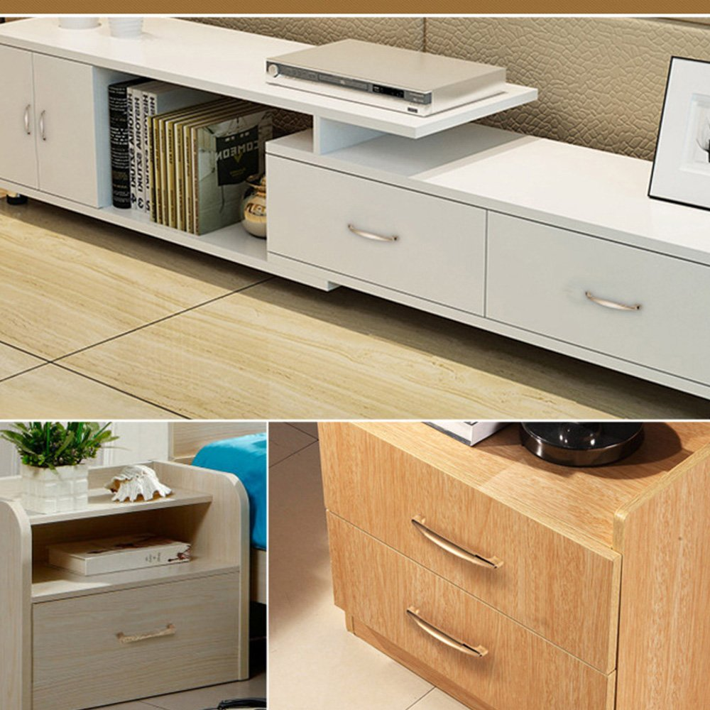 MATMO Modern Cabinet Handle, 5''(128mm) Hole Center, Euro Cabinet Hardware, Kitchen Bathroom Wardrobe Furniture Pulls, Rose Gold, 10-Pack by MATMO (Image #2)