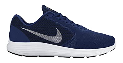 separation shoes 5a82b 94cfe Nike Men s s Revolution 3 Running Shoes, (Deep Royal Blue Metallic Clear  Grey-