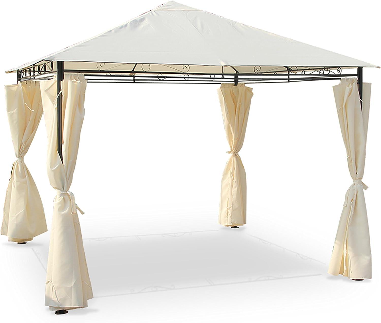 Alices Garden - Pergola con cortinas 3x3m - Crudo: Amazon.es: Jardín