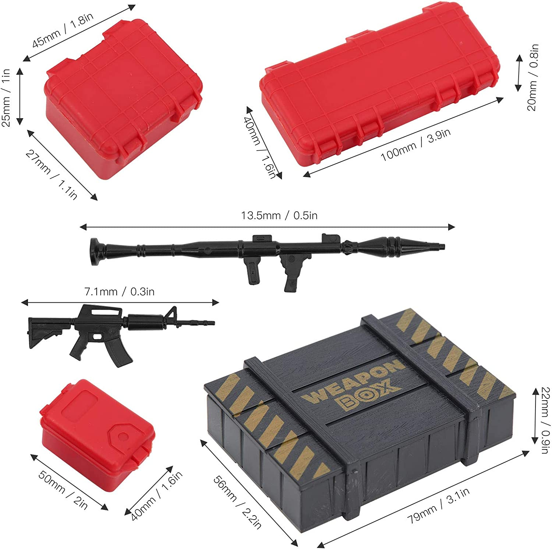 Dilwe RC Car Gep/äckbox Box Simulation Dekoration Holzbox Fit f/ür 1//10 RC Crawler