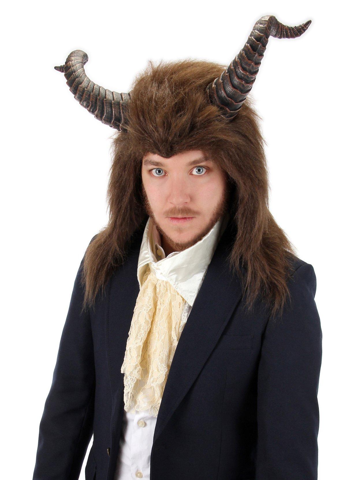 Disney Beauty and the Beast - Beast Costume Hood with Horns
