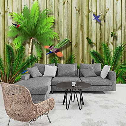 Colomac Wall Mural 3d Tropical Southeast Asia Bird Forest