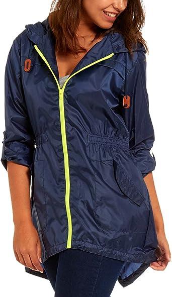 Ladies Fishtail Rain MacFestival Jacket Coat Showerproof Kagool