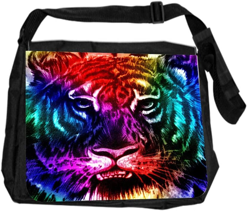 Animal Tiger in Lake Cross Body Shoulder Messenger Laptop Bag