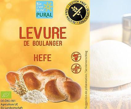 Levadura de panadería orgánica sin gluten 5 x 9 g PURAL ...