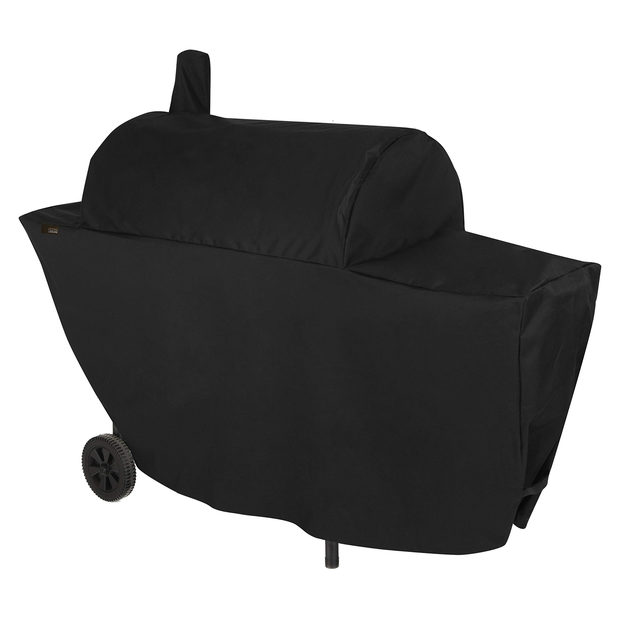 Modern Leisure 2981 Chalet Chimney Smoker BBQ Charcoal Grill Cover (67 L x 26 D x 50 H inches) Waterproof, Black