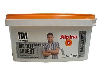 Alpina Tim Malzer Farbrezepte Metall Accent Silber 1 L Effekt