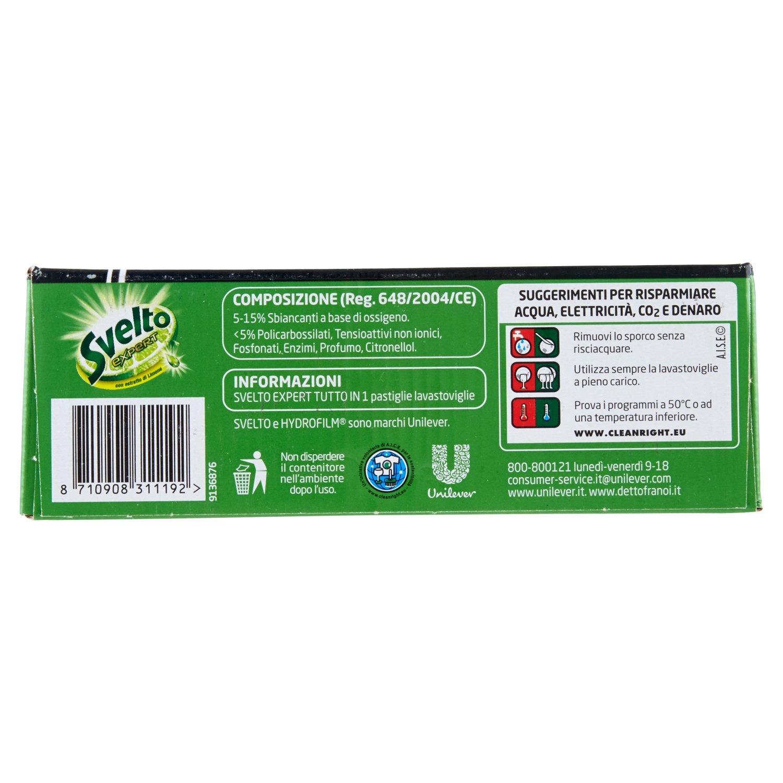 Svelto Detergente para lavavajillas Tabs Expert Extra Power, 52 ...