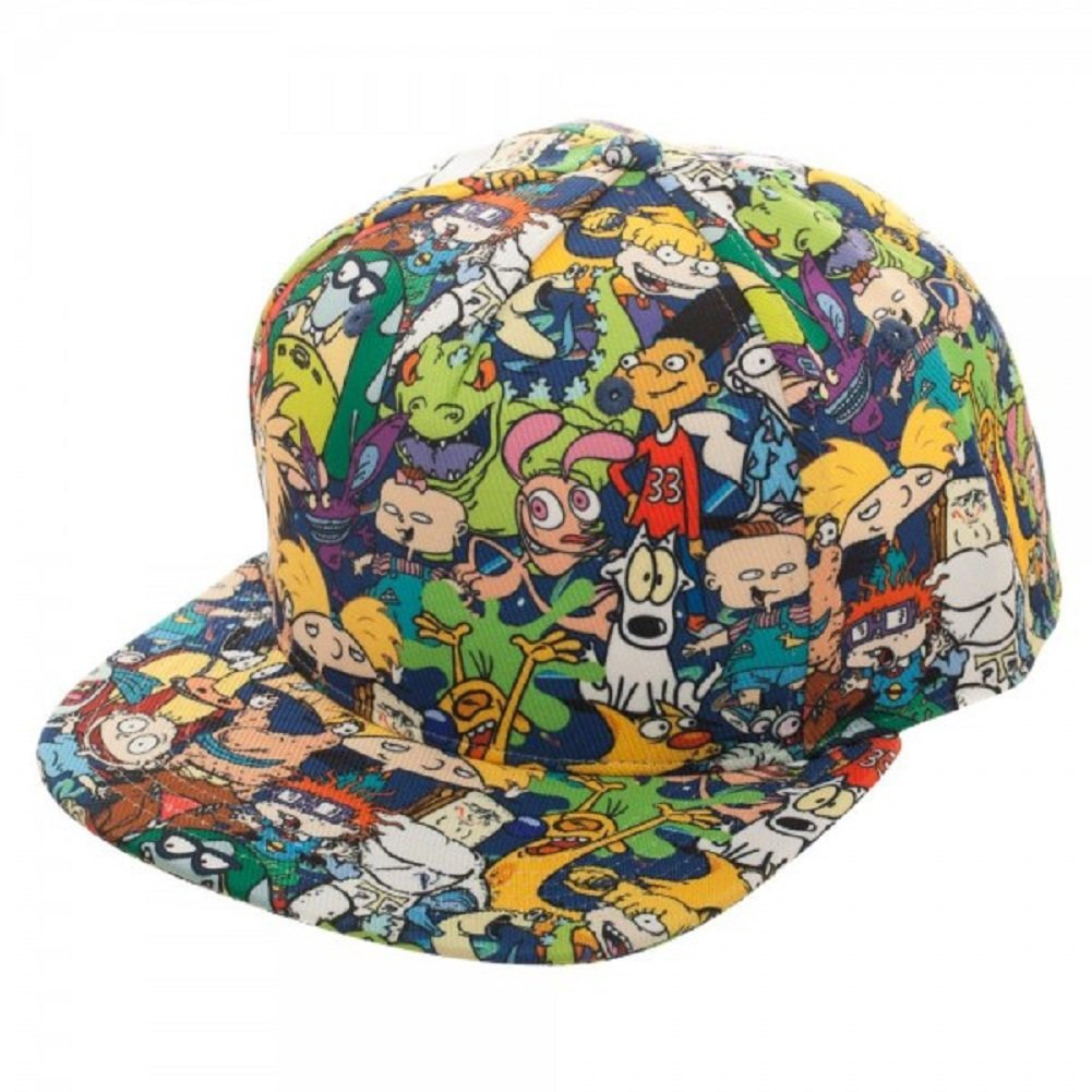 d66d0d6e807 ... clearance amazon new horizons production nickelodeon all over print  sublimated characters adjustable snapback cap hat clothing