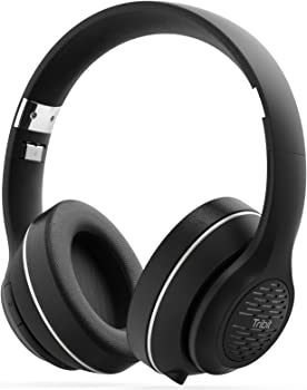 Tribit XFree Tune Over-Ear Wireless Bluetooth Headphones with Built-in Mic