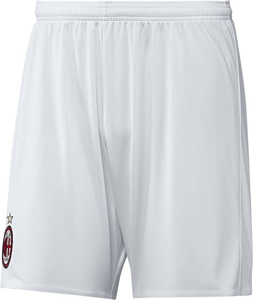 adidas Herren AC Mailand Shorts, WhiteDark Football Gold, S