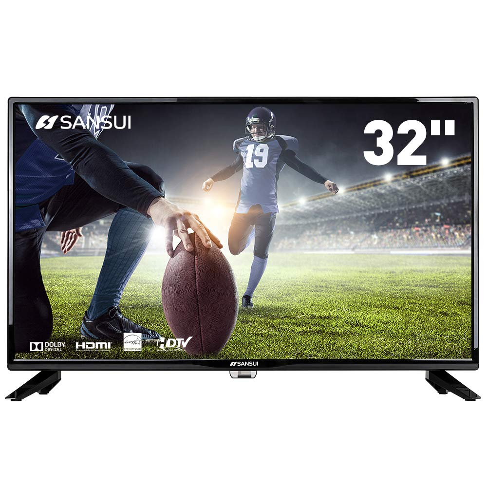SANSUI TV LED Televisions 32'' 720p TV with Flat Screen TV, HDMI PCA Input High Definition and Widescreen Monitor Display 2 HDMI (2018 Model)