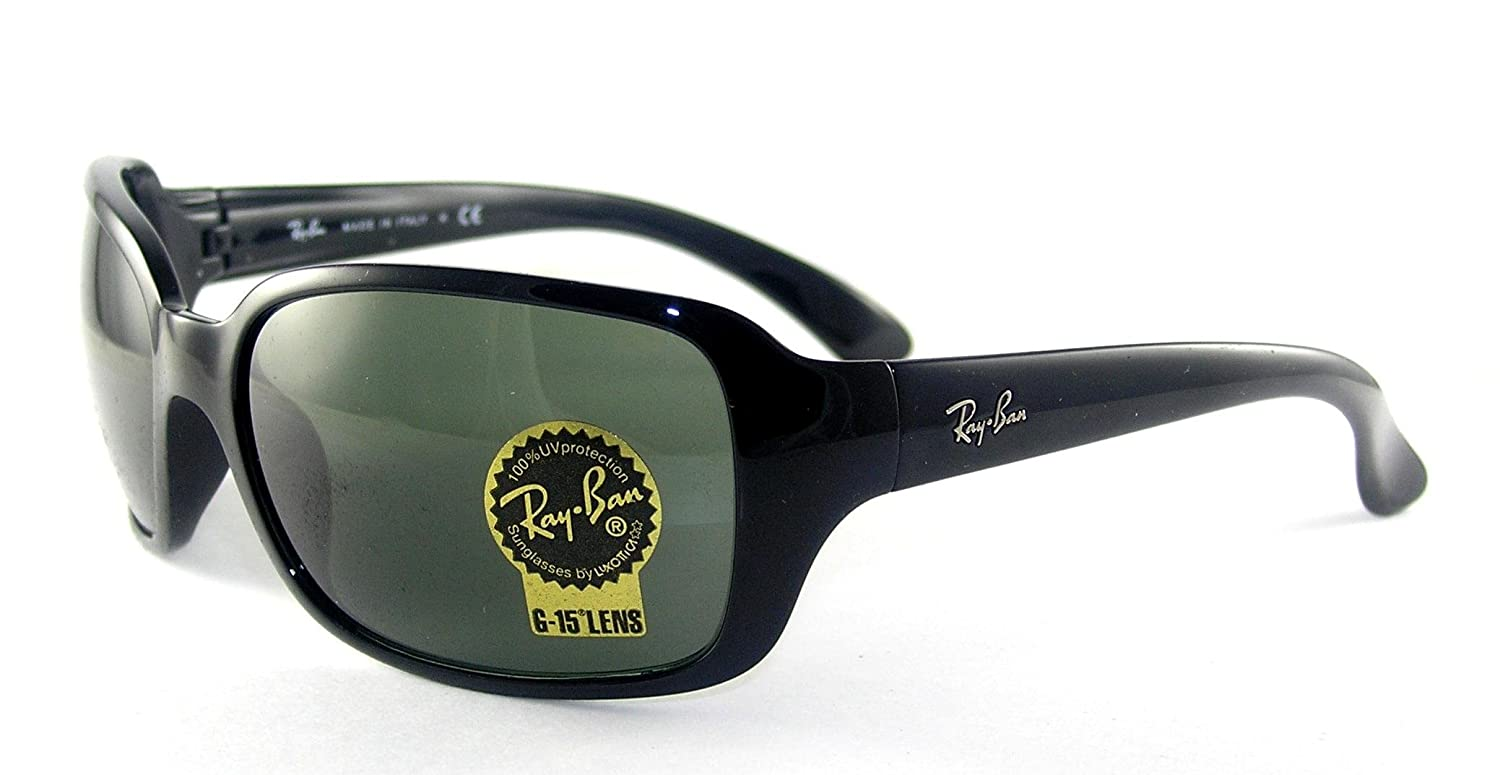 9adc560297 Amazon.com  Ray-Ban RB4068 - BLACK Frame CRYSTAL GREEN Lenses 60mm  Non-Polarized  Ray-Ban  Clothing