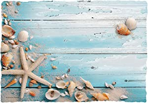 Beach Seashells Paper Placemats 9.75x14in. (25), Blue