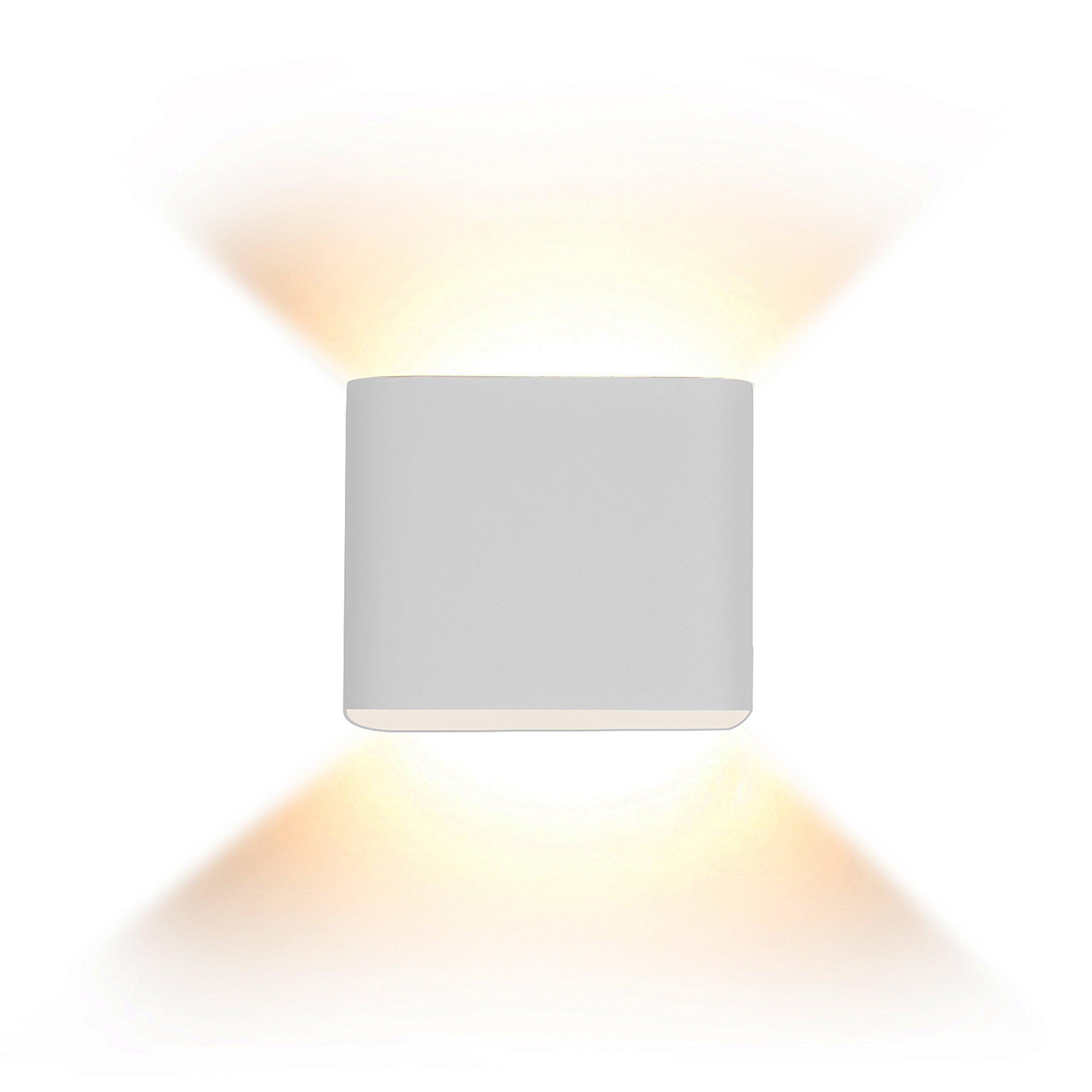 Lightess Up Down Wall Sconces Mini Wall Lights LED 5W Aluminum Design 2700K Warm White