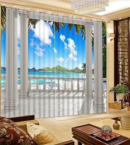 Amazon Com Sproud 3d Curtains Custom Curtains Balcony Roman Column