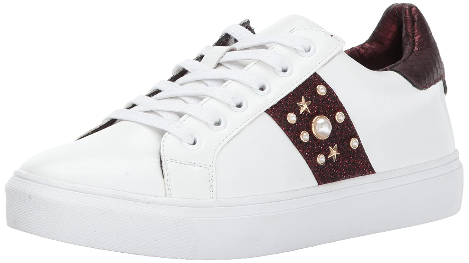 STEVEN by Steve Madden Women's Cory Fashion Sneaker B072843GM5 6 B(M) US|White/Multi
