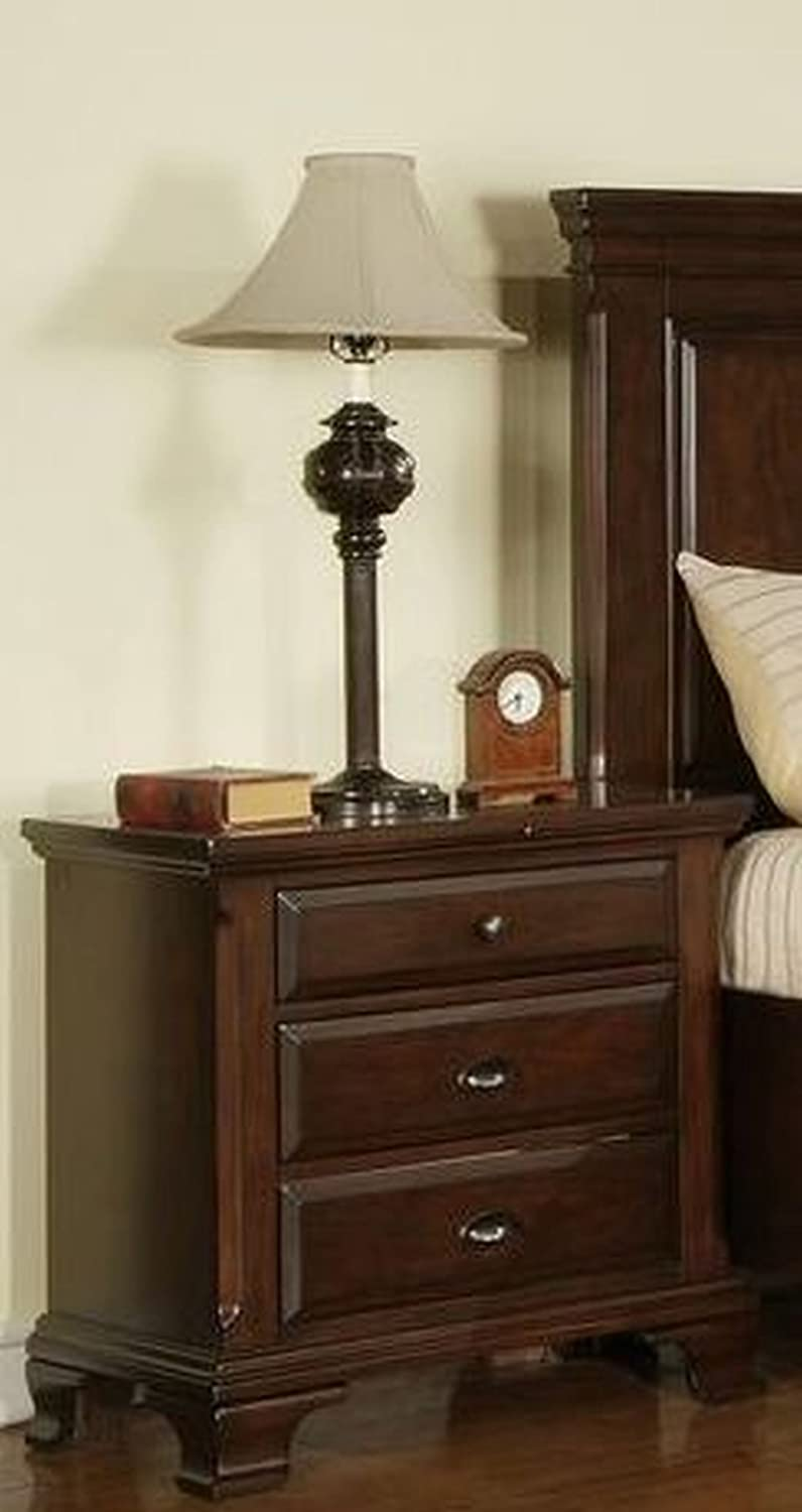 Greystone Grant 3 Drawer Nightstand
