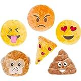 ZippyPaws Squeakie Emojiz Squeaky Plush Dog Toy