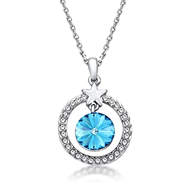 Carina swarovski crystal blue diamond pendant necklace for women carina swarovski crystal blue diamond pendant necklace for women girls aloadofball Image collections